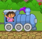 Dora řídí vláček